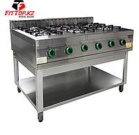 Плита газовая 6-ти конфорочная без жар. шкафа ПГ-6-01(1265х850х860 (960) мм , 21 кВт, 220 В)
