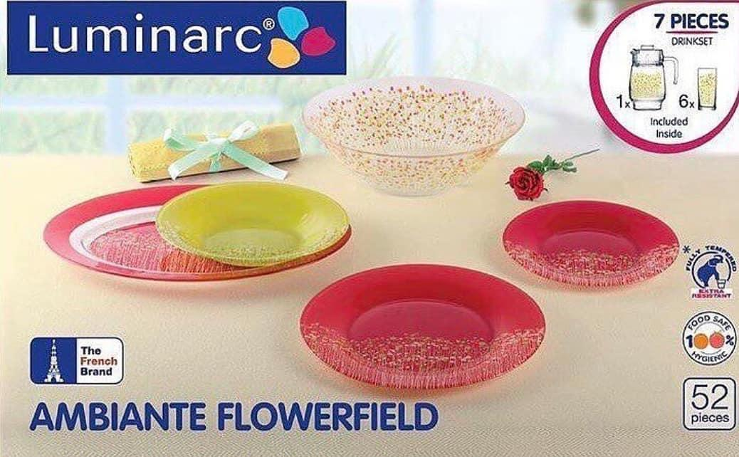 Столовый сервиз Luminarc Ambiante Flowerfield 52 предмета на 6 персон