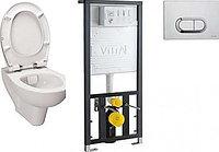 Унитаз подвесной с инсталляцией и сиденьем Vitra S20 9004B003-7202