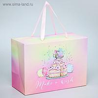 """Пакет-коробка """"Make a wish"""", Me To You, 20 x 28 x 13 см"""