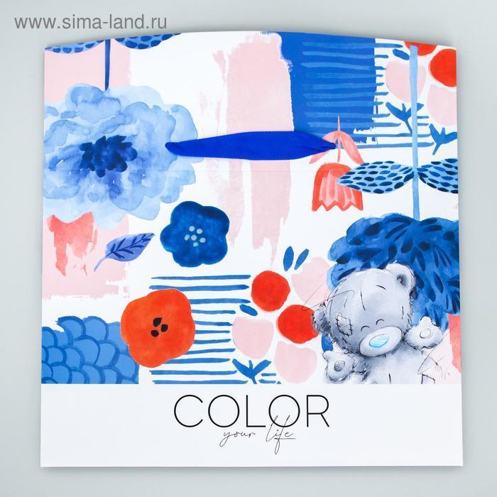 "Пакет-коробка ""Color your life"", Me To You, 20 x 28 x 13 см - фото 2"