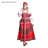 Русский народный костюм «Душечка», блузка с душегреей, юбка, головной убор, р. 46, рост 172 см