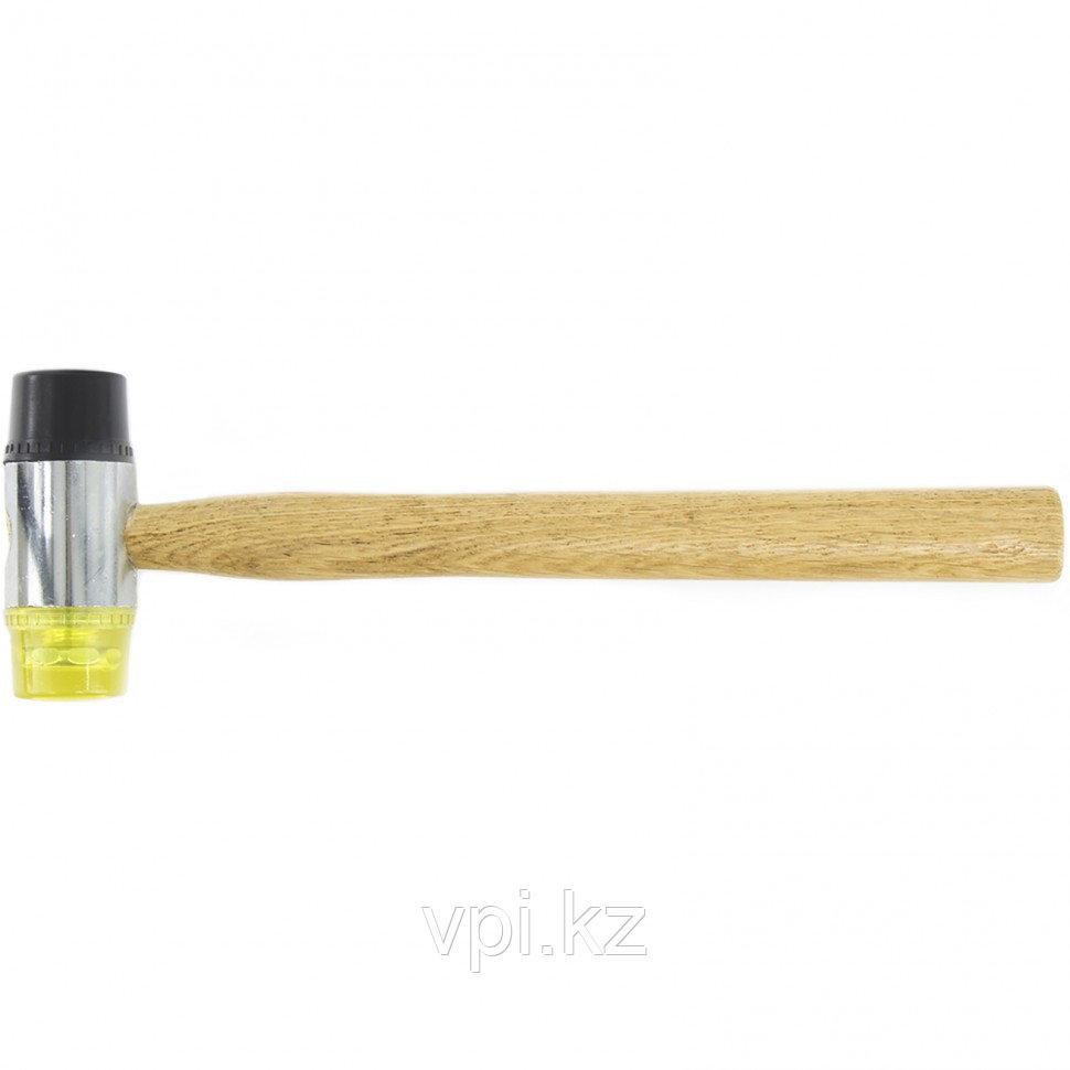 Молоток рихтовочный, резина-пластик, деревянная рукоятка, 35мм,  SPARTA