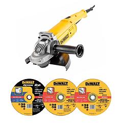 Набор угловая шлифовальная машина DEWALT DWE492SD10, 230 мм, DWE492S и 10 кругов