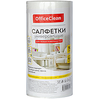 Салфетки из вискозы OfficeClean, 20 х 22 см, 70 штук в рулоне