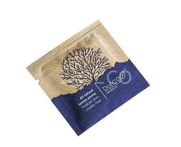 Влажная салфетка в индивидуальной упаковке DOECO (500шт/уп)