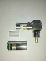 Штекер RCA (тюльпан) углов, металл. б.пайки