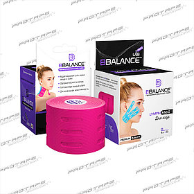 Тейп лимфодренажный BB LYMPH FACE™ 5 см × 5 м розовый