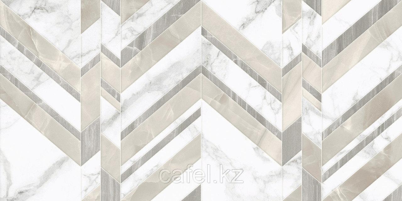 Кафель | Плитка настенная 30х60 Мармо бьянко | Marmo bianco шеврон