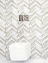 Кафель | Плитка настенная 30х60 Мармо бьянко | Marmo bianco шеврон, фото 3