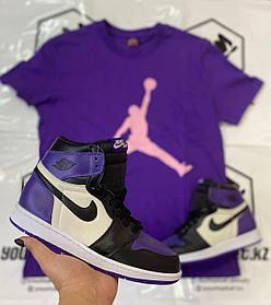 "Кроссовки Nike Air Jordan 1 Retro ""Black\Violet"""