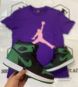 Kроссовки Nike Air Jordan 1 Retro Black\Green