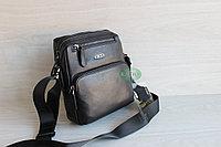 Мужская барсетка сумка черехз плечо из натуральной кожи HT