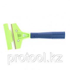 Скребок, лезвие 100мм, пластиковая ручка, 200мм// Сибртех