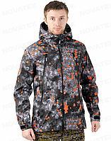 Куртка демисезонная для туризма NOVATEX ТРЕК (ткань полофлис, цвет матрица), размер 48-50