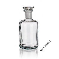 Склянки для реактива с узкой горловиной с притертой пробкой из светлого стекла (125 мл)