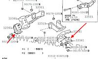 Подушка двигателя Toyota Coaster двигатель 1HZ