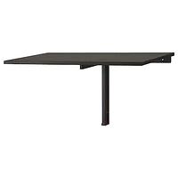 Стол откидной НОРБЕРГ черно-коричневый 74x60 см ИКЕА, IKEA