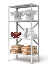 Стеллаж металлический МС-900, высота 180 см, нагрузка на полку до 200кг, на стеллаж до 900 кг