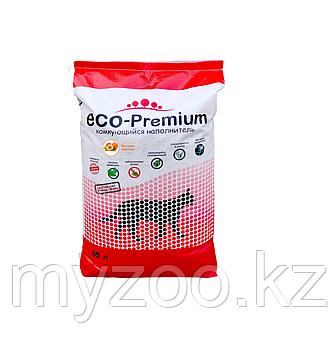 ECO-Premium Персик, 55 л - 20 кг |Эко-премиум комкующийся древесный наполнитель|
