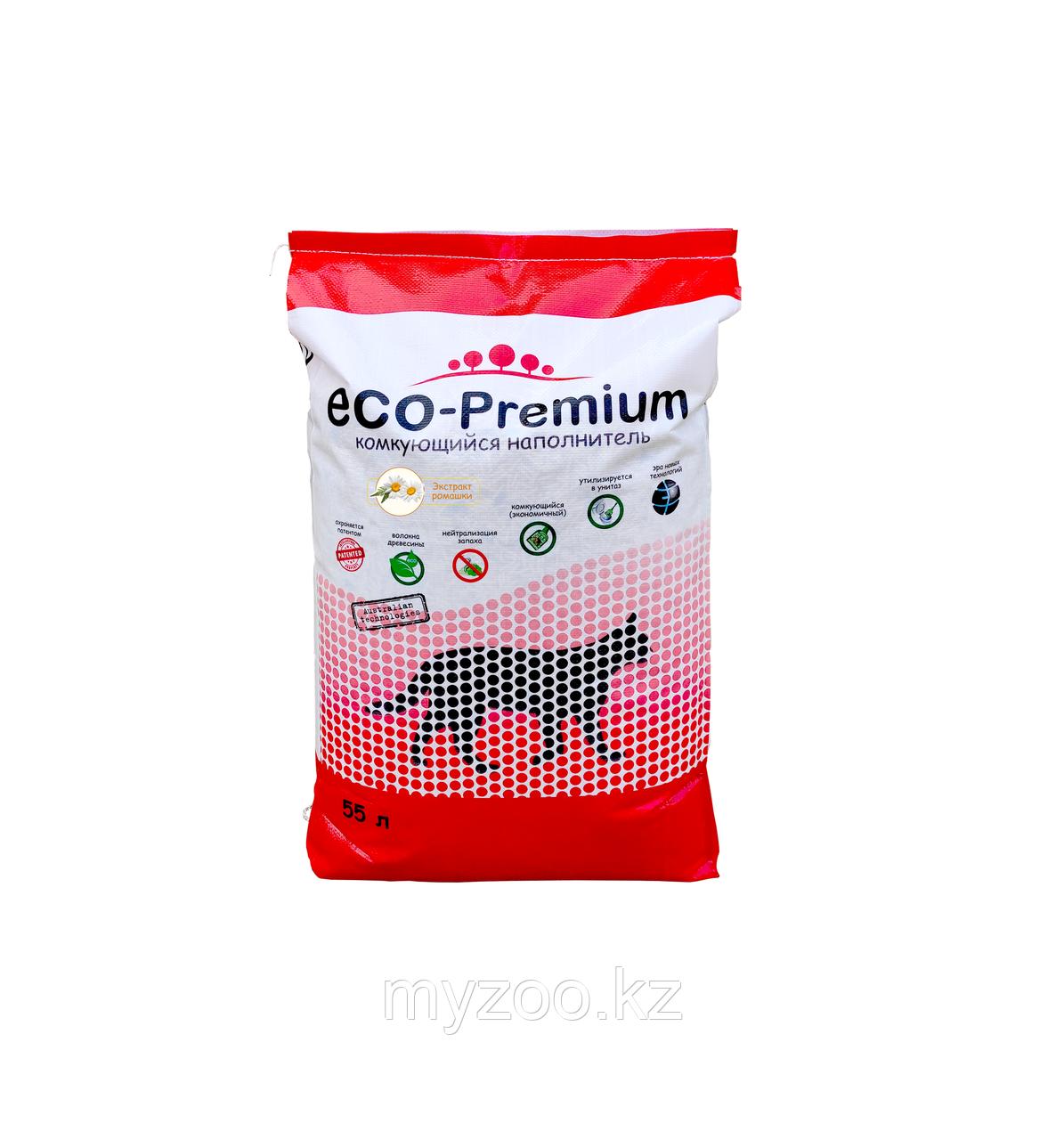 ECO-Premium Ромашка, 55 л - 20 кг |Эко-премиум комкующийся древесный наполнитель|