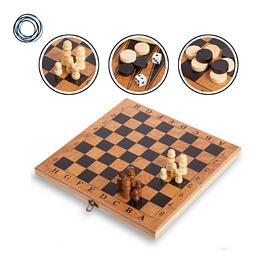 Набор игр Шахматы, шашки, нарды 3 в 1 деревянные Шахматная доска 48 x 48 см Стандарт ФИДЕ