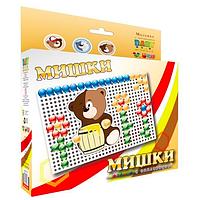 Мозаика для детей с аппликацией Мишки