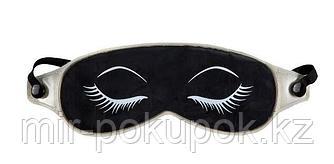 Маска для кожи вокруг глаз с глиной, чёрная