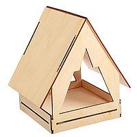 Кормушка деревянная для птиц Юрта 22×17×17 см