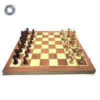 Настольная игра 3 в 1 шахматы, шашки и нарды 38 x 38 см