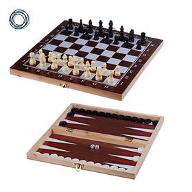 Шахматы шашки нарды деревянные Chess 3в1 48\48см
