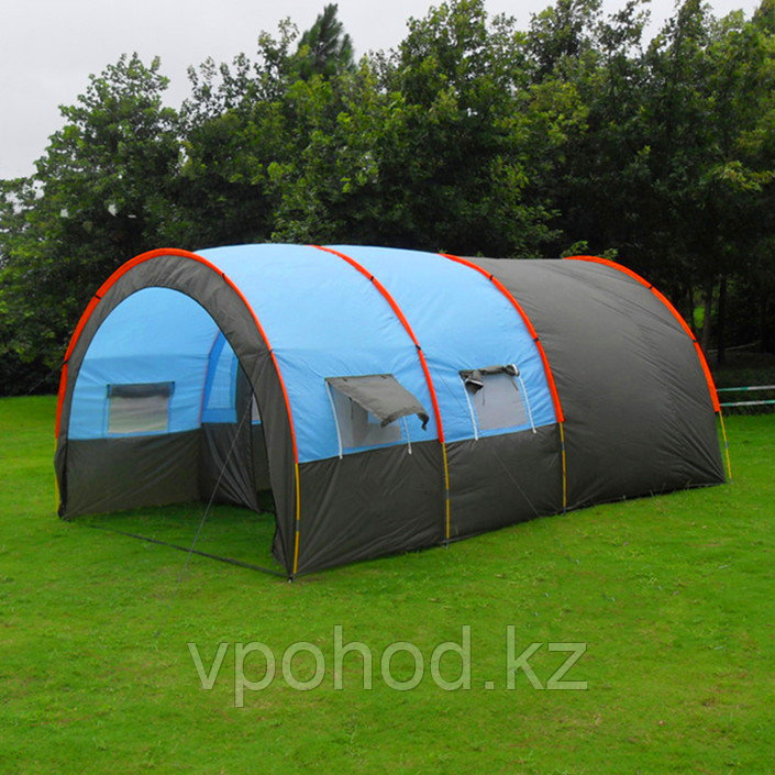 Палатка  с коридором и шатром  СТ-3017 4-х местная