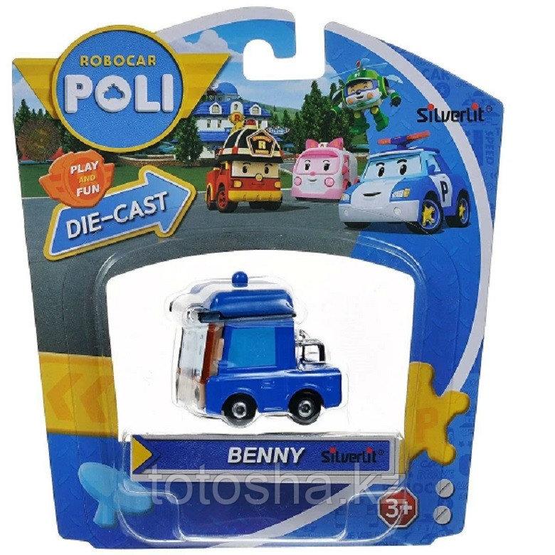 Robocar Poli Бэнни металлическая машинка 6 см , 83254