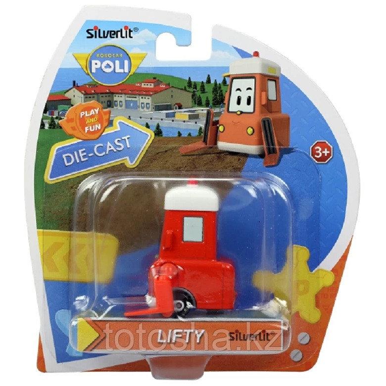 Robocar Poli Лифти металлическая машинка 6 см , 83406
