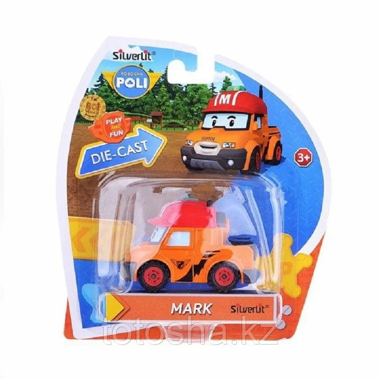 Robocar Poli Марк металлическая машинка 6 см , 83305