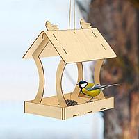 Кормушка для птиц сборная Птичка 20 × 30 × 34,5 см