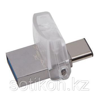 USB Флеш 64GB 3.0 Kingston OTG DTDUO3C/64GB металл, фото 2