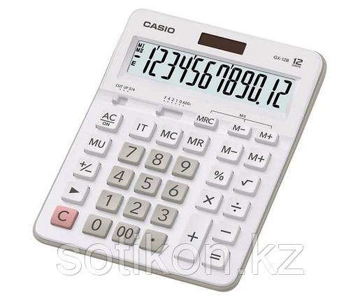 Калькулятор настольный CASIO GX-12B-WE-W-EC, фото 2