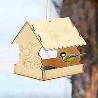 Кормушка для птиц сборная Птичка на ветке 22 × 20 × 22 см