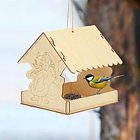Кормушка для птиц сборная Лисичка с зонтиком 22 × 20 × 22 см