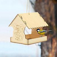 Кормушка для птиц сборная Мышь новогодняя 22 × 20 × 22 см