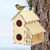 Скворечник для птиц сборный Домик для гостей 20 × 16 × 23 см