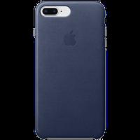 Оригинальный кожаный чехол IPhone 8 Plus / 7 Plus Leather Case - Midnight Blue