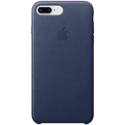 Оригинальный кожаный чехол IPhone 8 Plus / 7 Plus Leather Case - Midnight Blue - фото 1