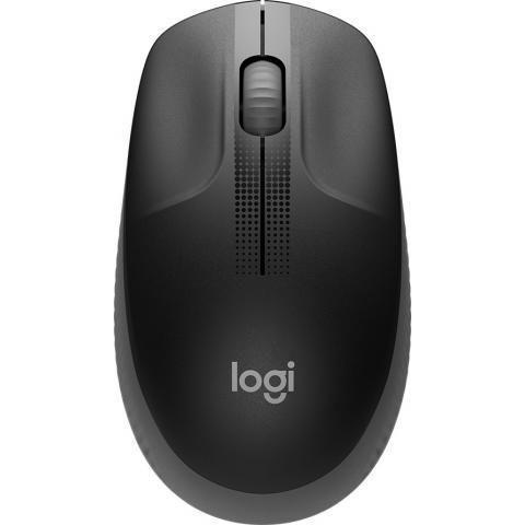 LOGITECH M190 Full-size wireless mouse - CHARCOAL - 2.4GHZ - EMEA - M190