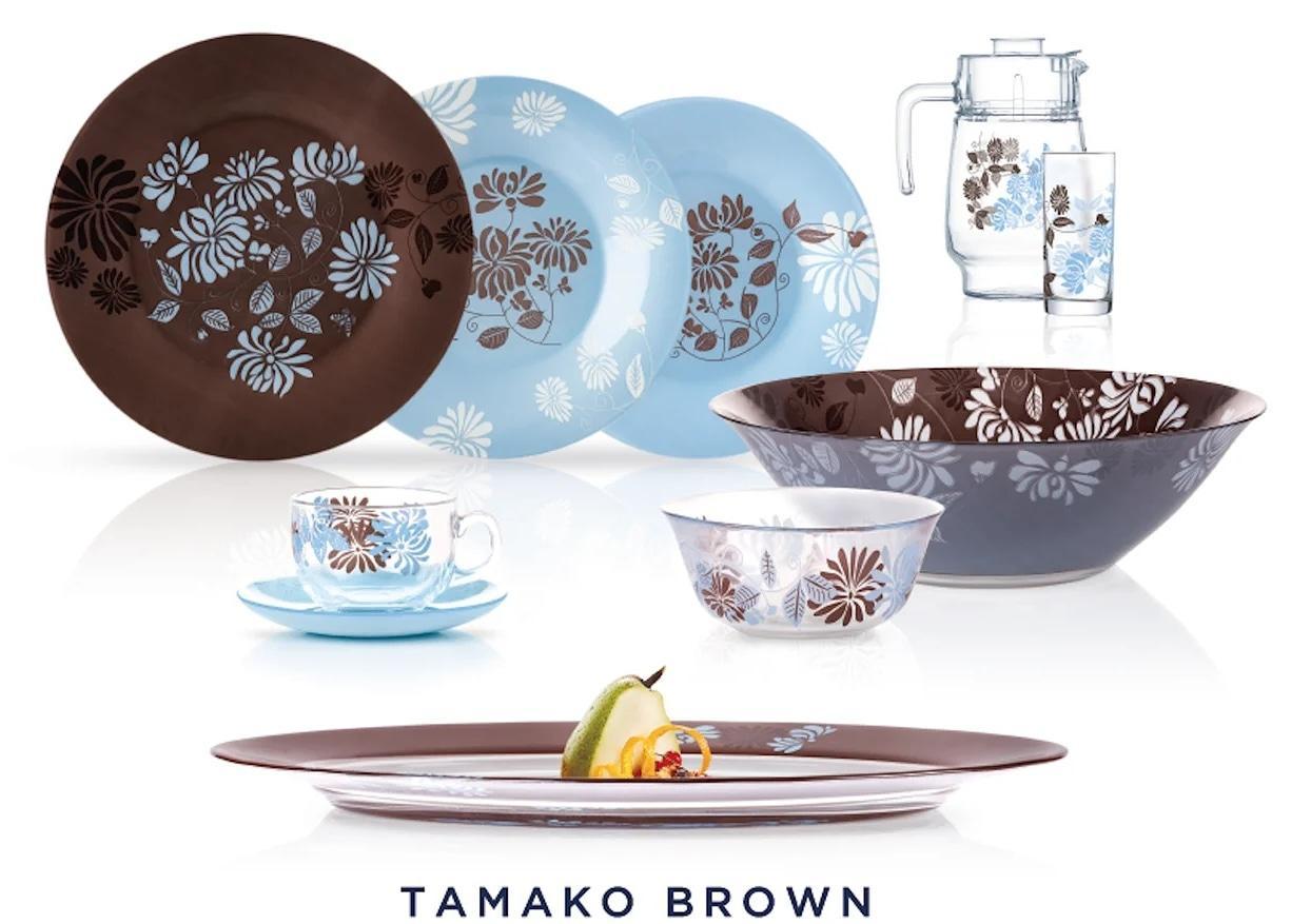 Столовый сервиз Luminarc Tamako Brown 46 предметов на 6 персон