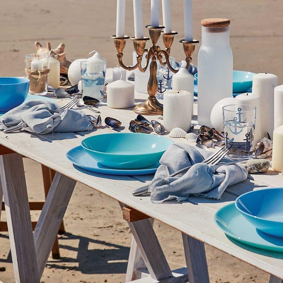 Столовый сервиз Luminarc Diwali Blue & Turquoise 19 предметов на 6 персон