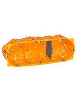 Legrand 080043 Коробка Batibox для сухих перегородок, 3 поста, 40мм