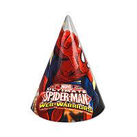Карнавальный головной убор  ВЕСЁЛАЯ ЗАТЕЯ  1501-5023  Spider-Man  (6шт. в пакете)  Бумажный  Многоцветный
