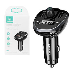 FM-Модулятор Bluetooth + Car Charger Usams C21, Black